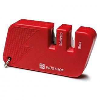 Wüsthof  - Afiador Facas Chaveiro 2 Estágios Vermelho